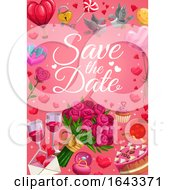 Poster, Art Print Of Save The Date Wedding Design