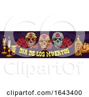 Dia De Los Muertos Banner by Vector Tradition SM