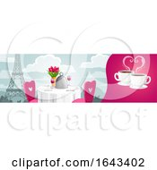 Romantic Cafe With The Eiffel Tower