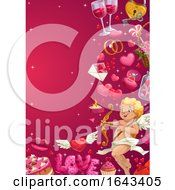 Poster, Art Print Of Wedding Or Valentines Day Border