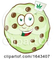 Cartoon Cannabis Cookie Character