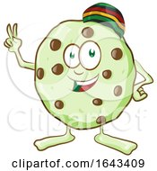 Cartoon Rasta Cannabis Cookie Character