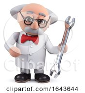 3d Scientist Character Holding A Spanner by Steve Young