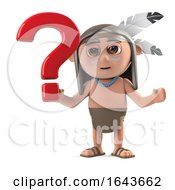 3d Native American Indian Boy Has A Question by Steve Young