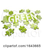 3d Green Jigsaw by Steve Young