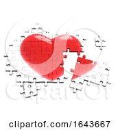 Poster, Art Print Of 3d Heart Jigsaw Puzzle