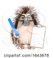 3d Hedgehog With A Clipboard by Steve Young