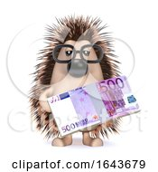 3d Hedgehog With Euros by Steve Young