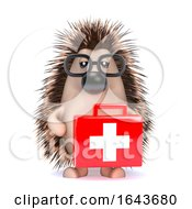 3d Hedgehog Has A First Aid Kit by Steve Young