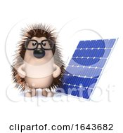 Poster, Art Print Of 3d Hedgehog With A Solar Panel