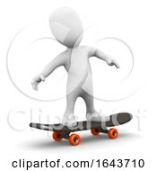 3d Person On A Skateboard