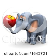 3d Elephant With An Apple by Steve Young