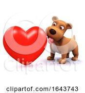 Poster, Art Print Of 3d Puppy Love