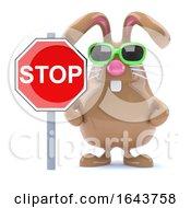 Poster, Art Print Of 3d Stop Sign Bunny