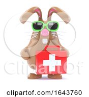 Poster, Art Print Of 3d Bunny With First Aid