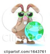 Poster, Art Print Of 3d Bunny Globe
