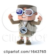 3d Hiker Wearing 3d Glasses