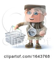3d Hiker Goes Shopping