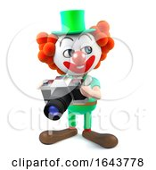 3d Funny Cartoon Clown Character Holding A Camera by Steve Young