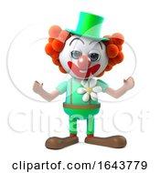 3d Funny Cartoon Clown Character Is Cheering Joyously