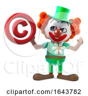 3d Funny Cartoon Crazy Clown Character Has A Copyright Symbol by Steve Young