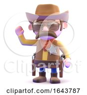 3d Cowboy Waving by Steve Young