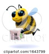 3d Honey Bee Delivers A Box