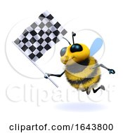 3d Honey Bee Waves The Checkered Flag