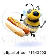 3d Honey Bee Loves Hot Dogs