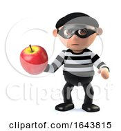 3d Burglar Steals An Apple by Steve Young