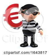 3d Burglar Has Euro Currency Symbol by Steve Young