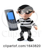 3d Burglar Has Stolen A Cellphone by Steve Young