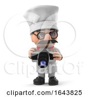 3d Funny Cartoon Italian Pizza Chef Character Takes A Photo With Camera by Steve Young