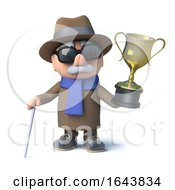 3d Blind Man Has Won The Gold Cup Trophy Award by Steve Young