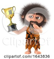 3d Caveman Holding A Trophy by Steve Young