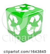3d Green Recycle Dice