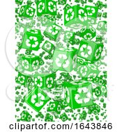 3d Wall Of Green Recycle Dice