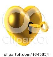 Poster, Art Print Of 3d Unlock The Heart Of Gold
