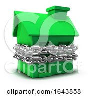 3d Green House Bound By Chain