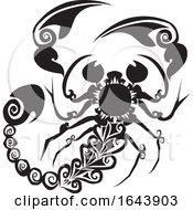 Black And White Scorpion Tattoo Design