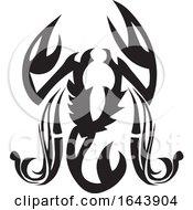 Black And White Scorpion Or Crab Tattoo Design