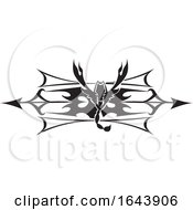 Black And White Scorpion Tribal Tattoo Design