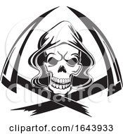 Black And White Grim Reaper Tattoo Design