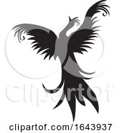 Black And White Phoenix Tattoo Design