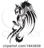 Black And White Phoenix Tattoo Design