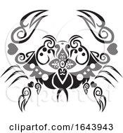 Black And White Crab Tattoo Design