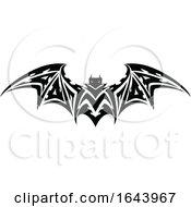 Black And White Bat Tribal Tattoo Design