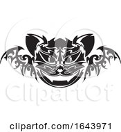 Black And White Cat Face Tattoo Design by Morphart Creations