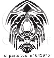 Black And White Tribal Tattoo Design by Morphart Creations