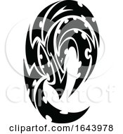 Black And White Abstract Tribal Tattoo Design by Morphart Creations